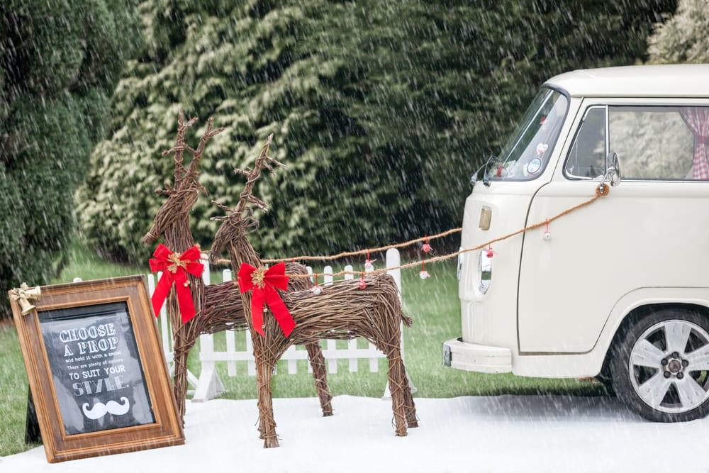 retro VW Camper photobooth in Surrey