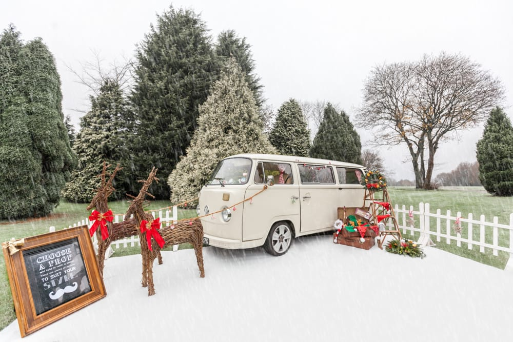 Christmas retro VW Camper photobooth shoot in Surrey
