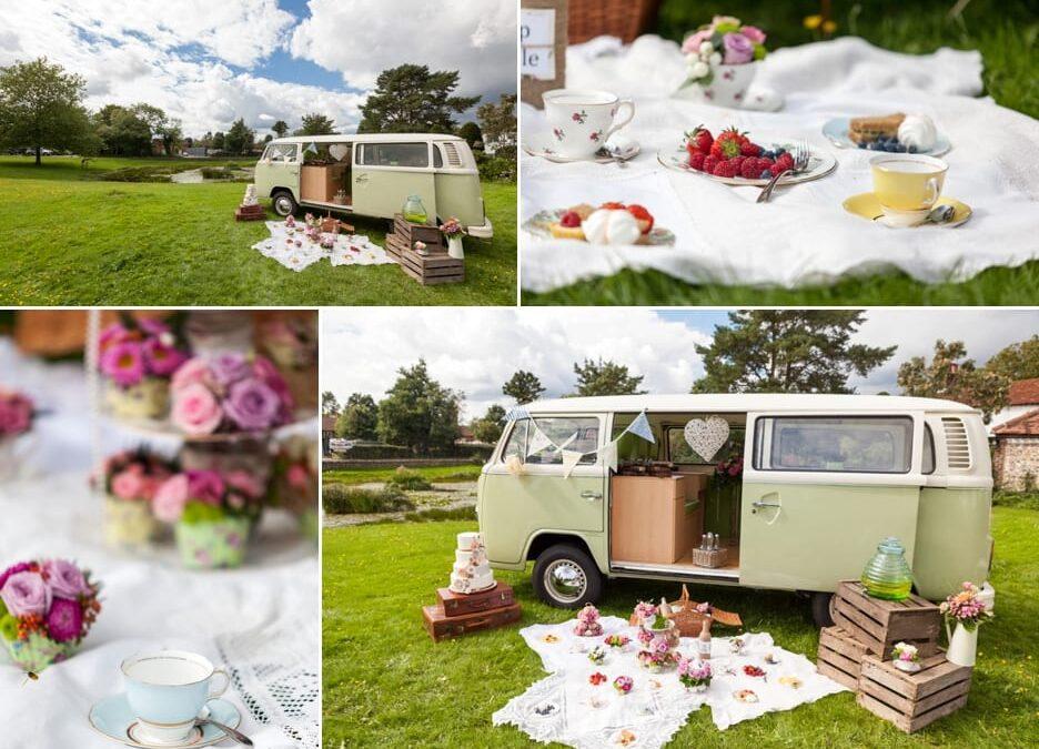 Surrey Wedding Supplier Team With Vintage VW Camper