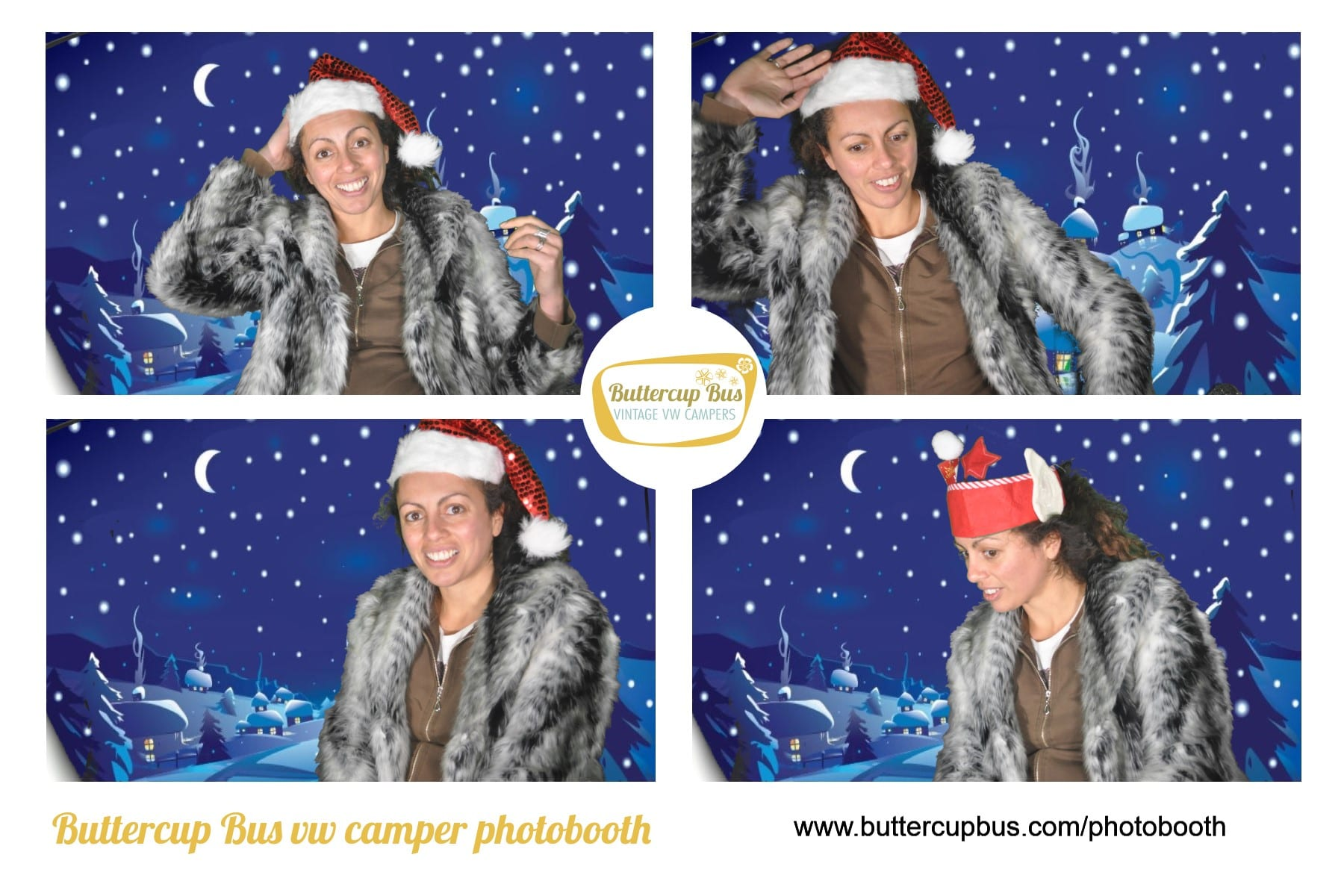 Christmas VW Camper photobooth in Surrey Greenscreen