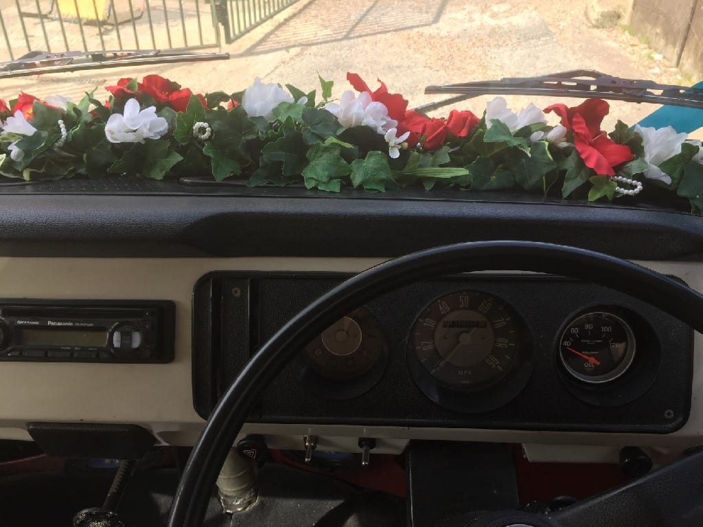 Flowers VW Camper wedding
