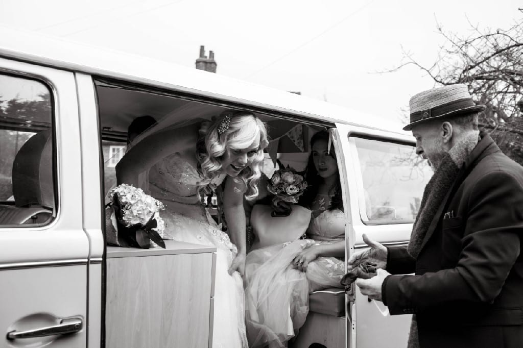 Campervan wedding car in Surrey