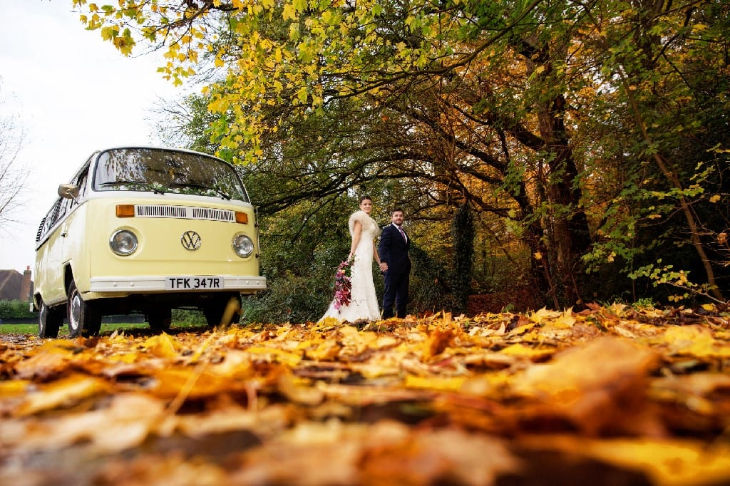 VW Camper Autumn Surrey Wedding