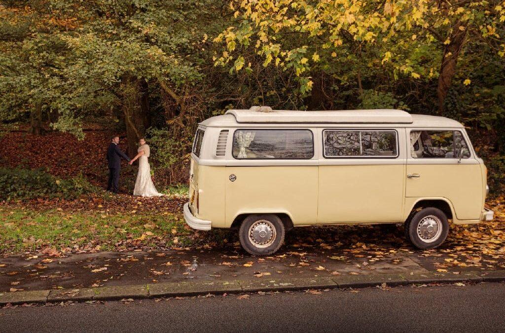 Autumn VW Camper Wedding Photoshoot in Surrey