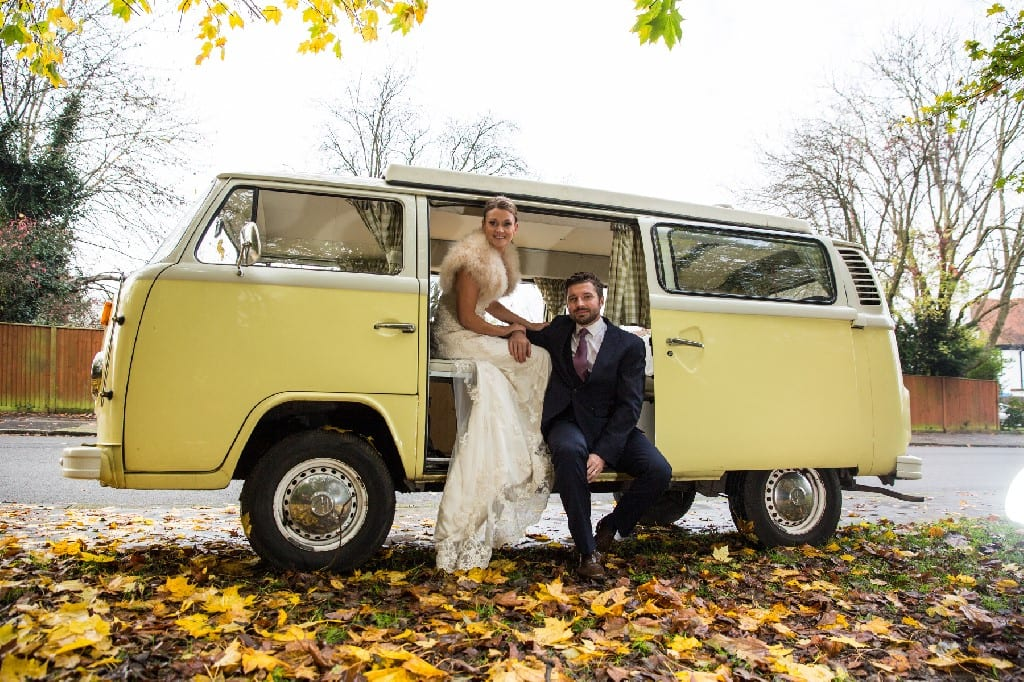 Buttercup our yellow Wedding VW Camper in Surrey