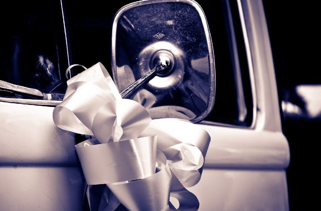 How to make a wedding car bow using florist ribbon