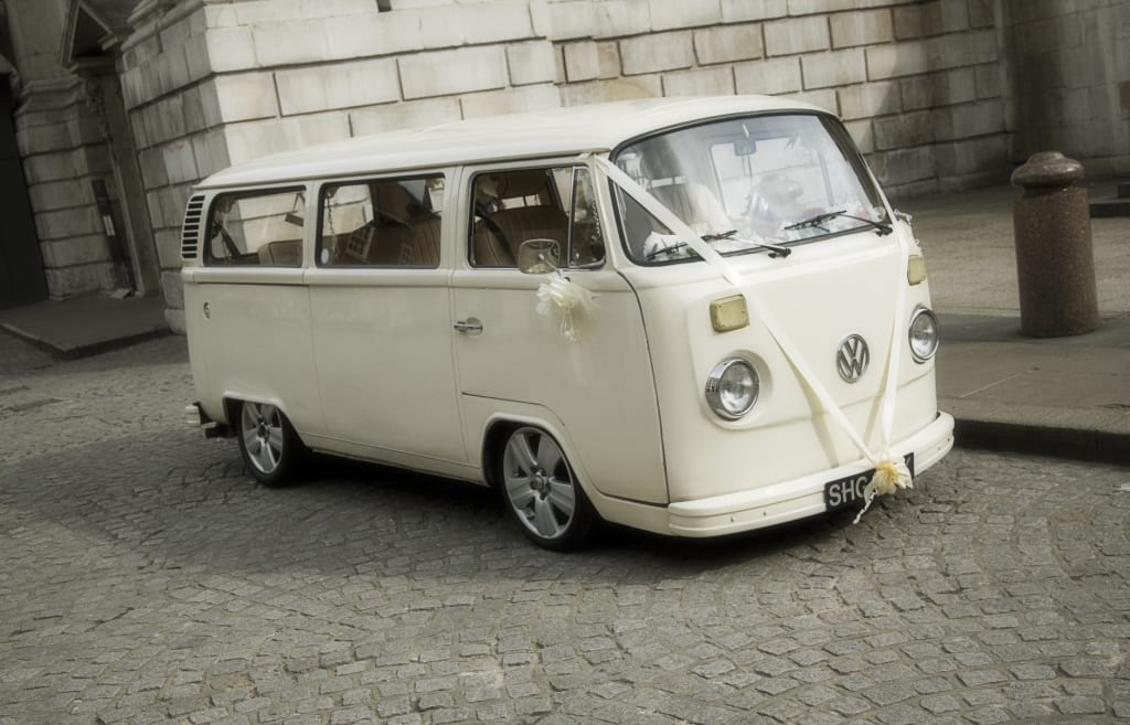 The story of Pushka, a little white wedding campervan