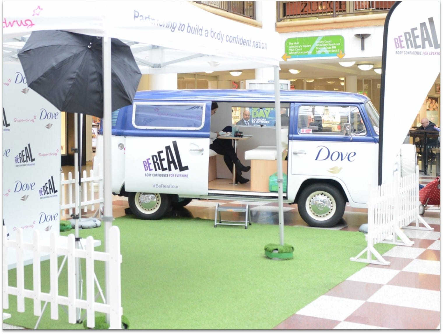 VW Camper on promo tour