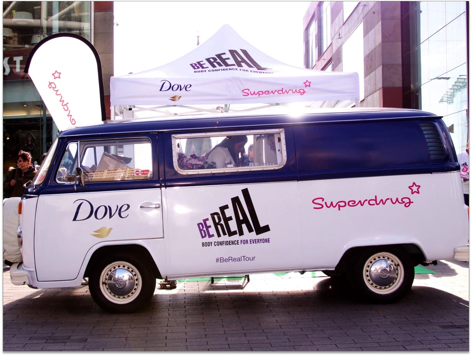 Branded Vw Camper Experiential Campaign Dove Buttercup Bus
