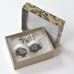 red-camper-cufflinks