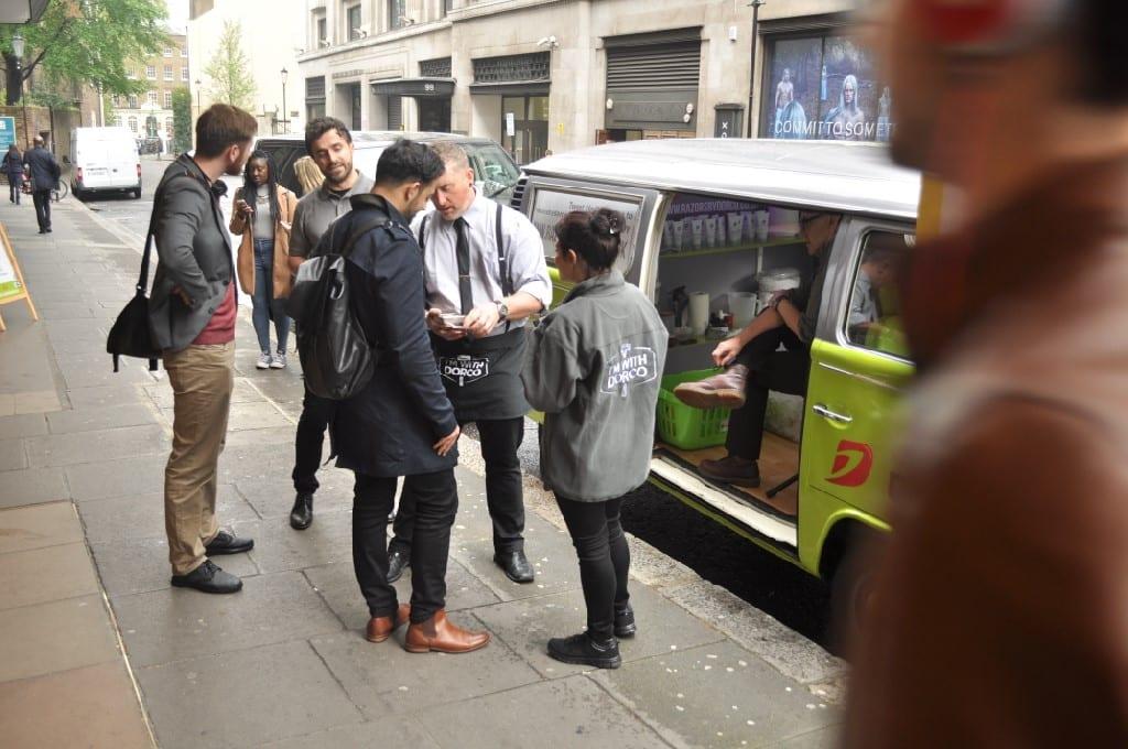 VW Camper on London promo tour