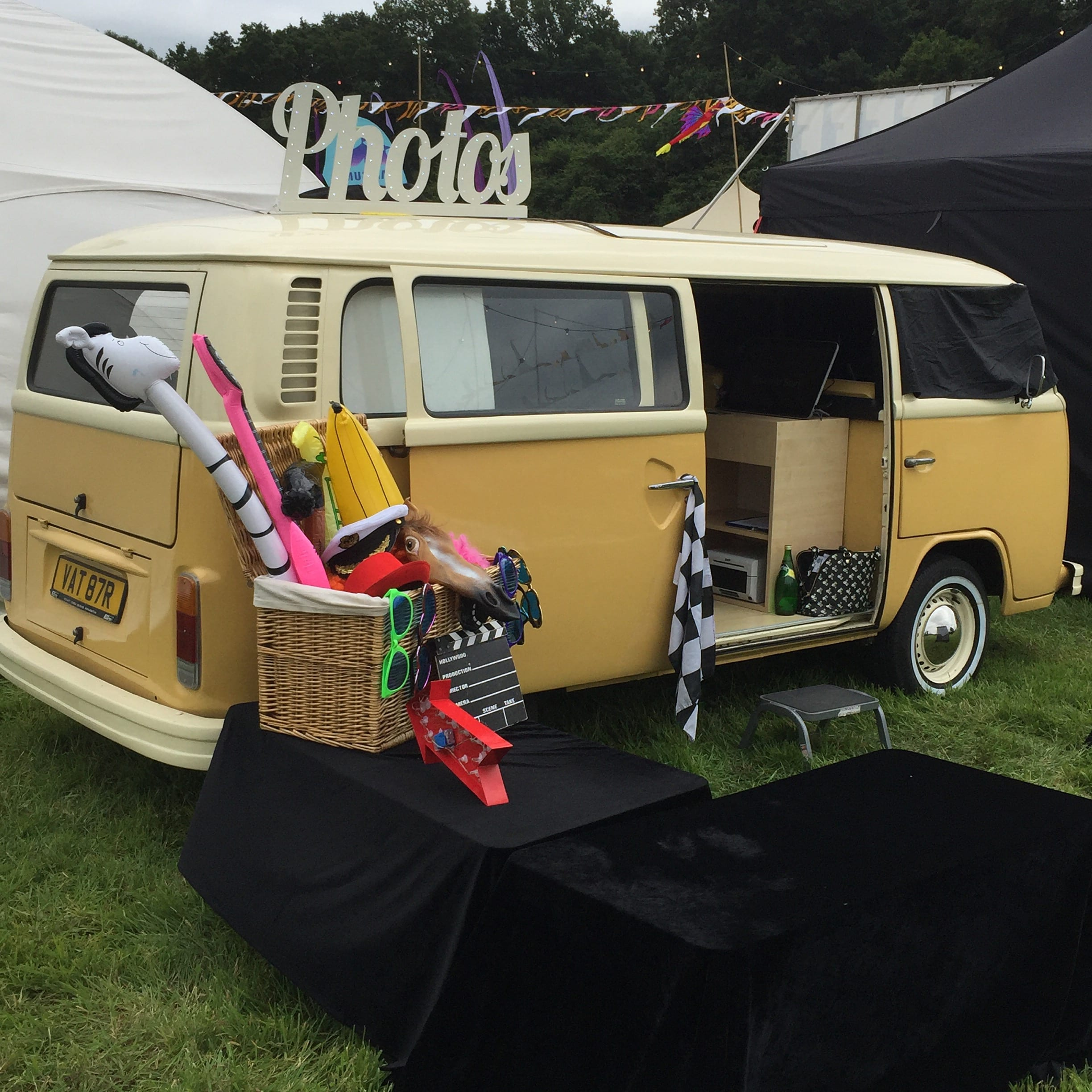 Buttercup Bus campervan photobooth for outdoor events