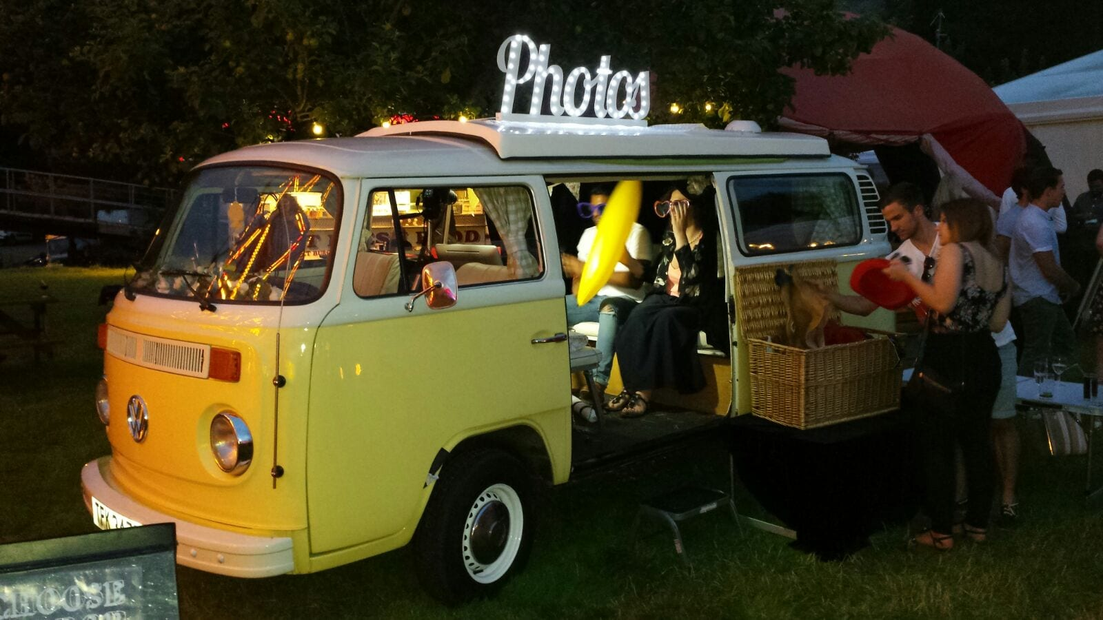 campervan photobooth for outdoor events