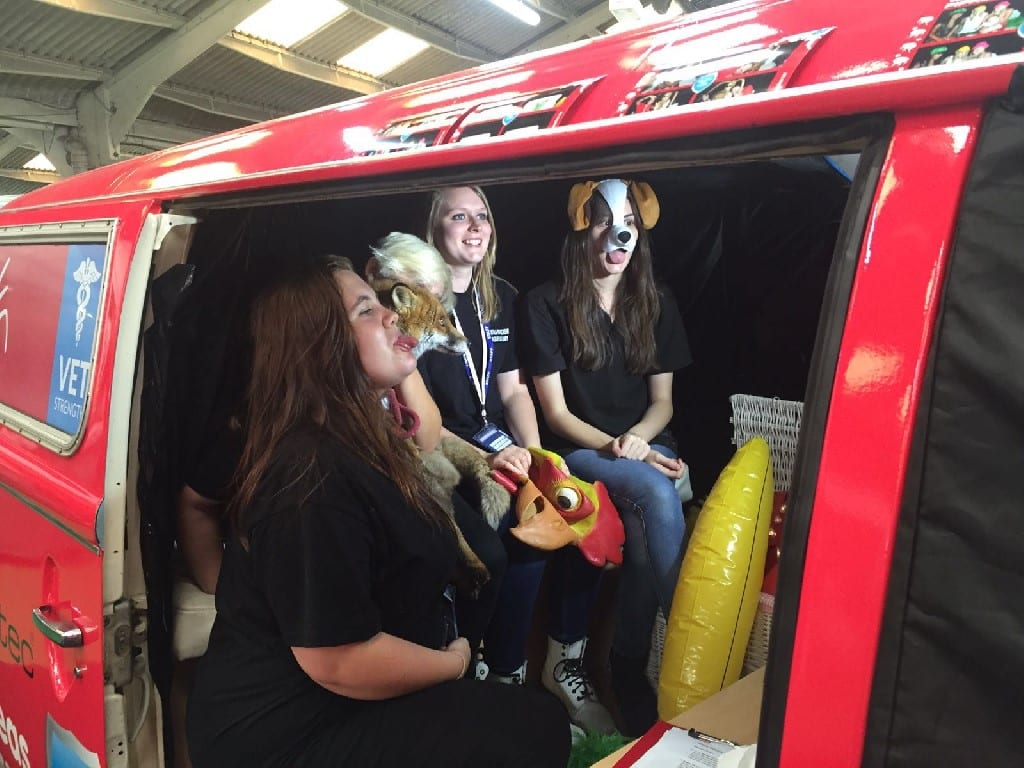 branded campervan photobooth for promo exhibition