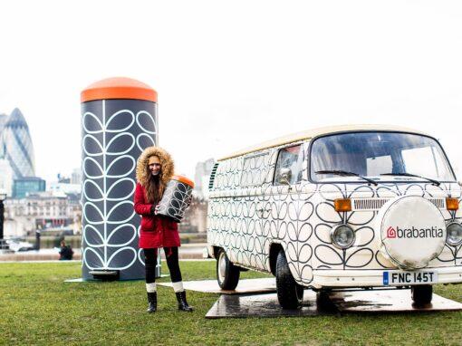 Media tour in a branded VW Camper across London