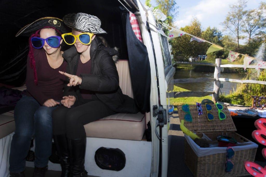 Campervan outdoor photobooth surrey