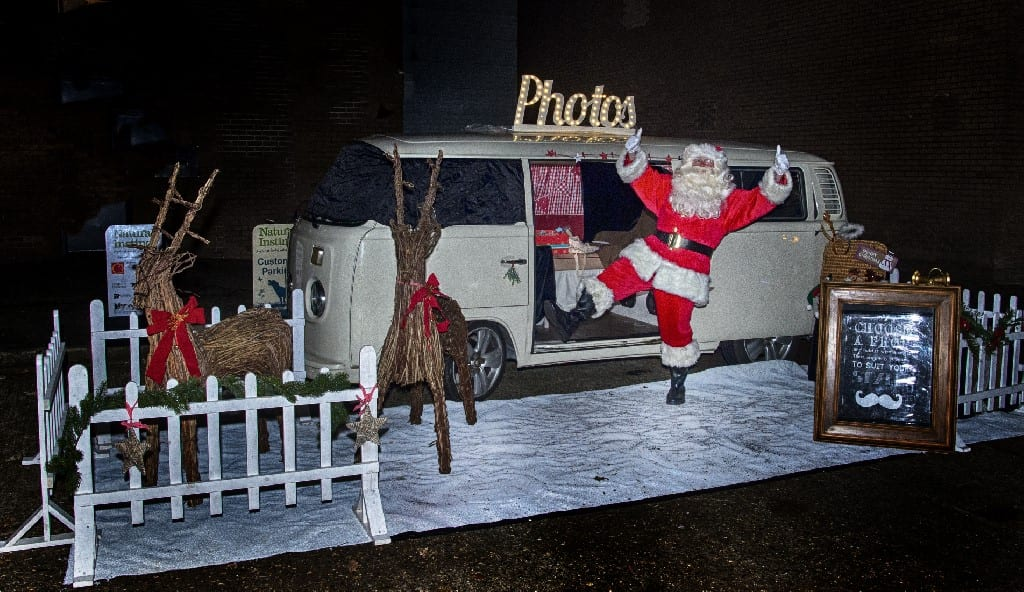 Xmas promo event with Surrey campervan photobooth