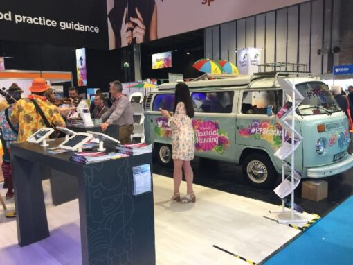 Branded VW Campervan hire for exhibition stand – #PFSfestival