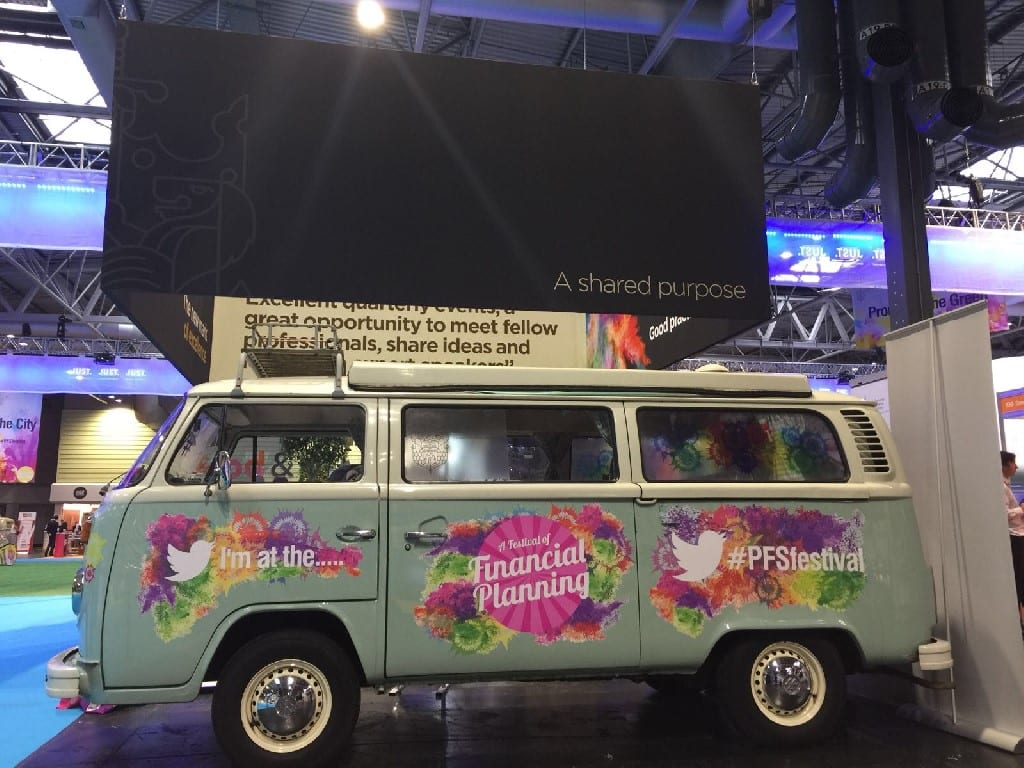 Branded VW Camper hire for exhibition stand