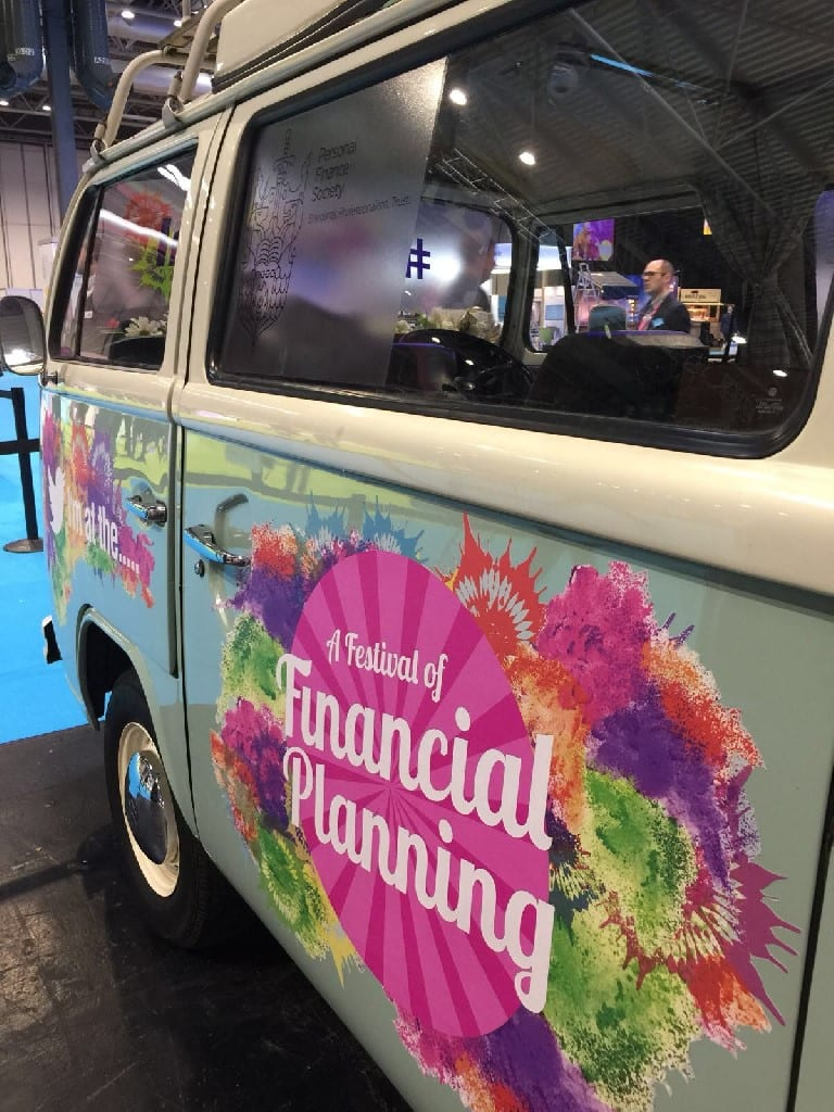 Branded VW Camper Exhibition Stand with low tack vinyl decals - Birmingham NEC - provided by buttercupbus.com