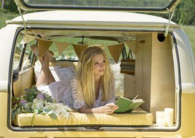 VW Campervan wedding in SUrrey London Sussex and Kent for boho wedding festival wedding tipie wedding