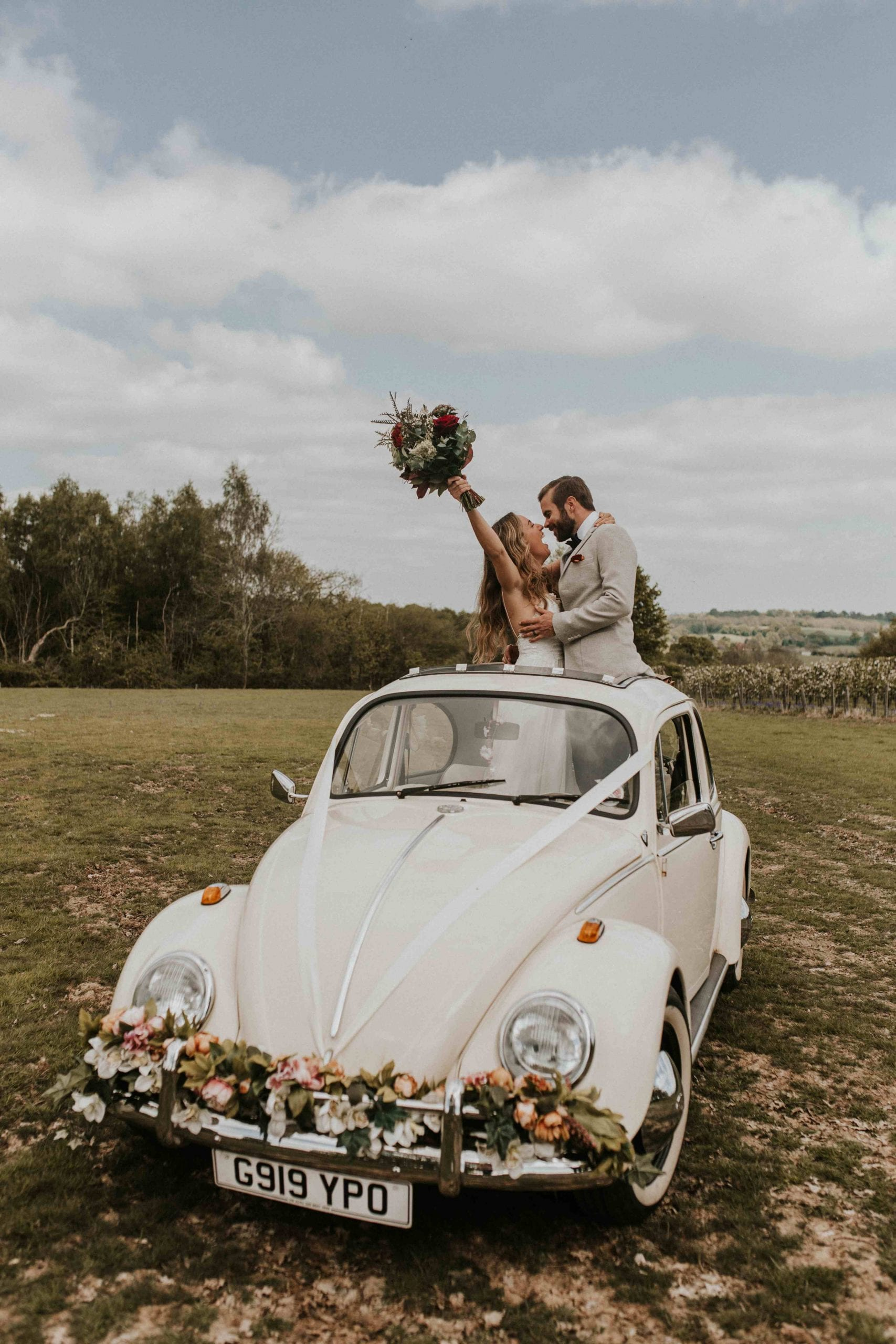 VW Beetle wedding car hire Surrey