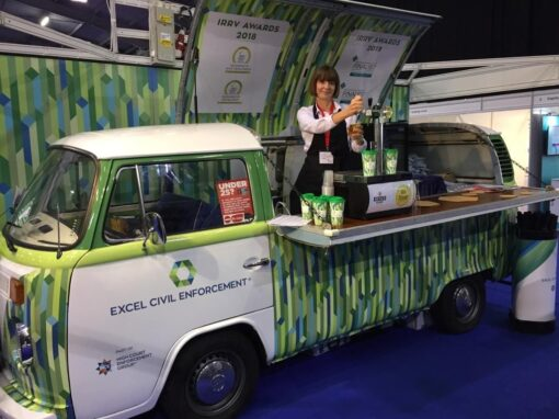 Branded Campervan Popup Bar As Exhibition Stand