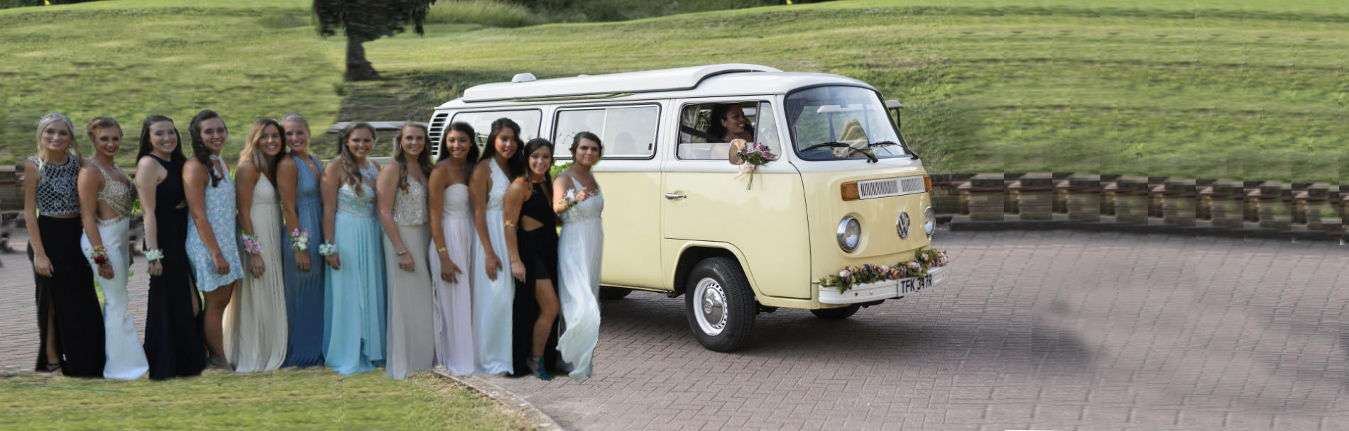 self-drive classic VW campervan prom hire