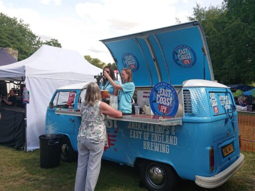 Branded Campervan Bar Hire Tour for Greene King