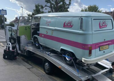 Branded Classic campervan hire with transporter