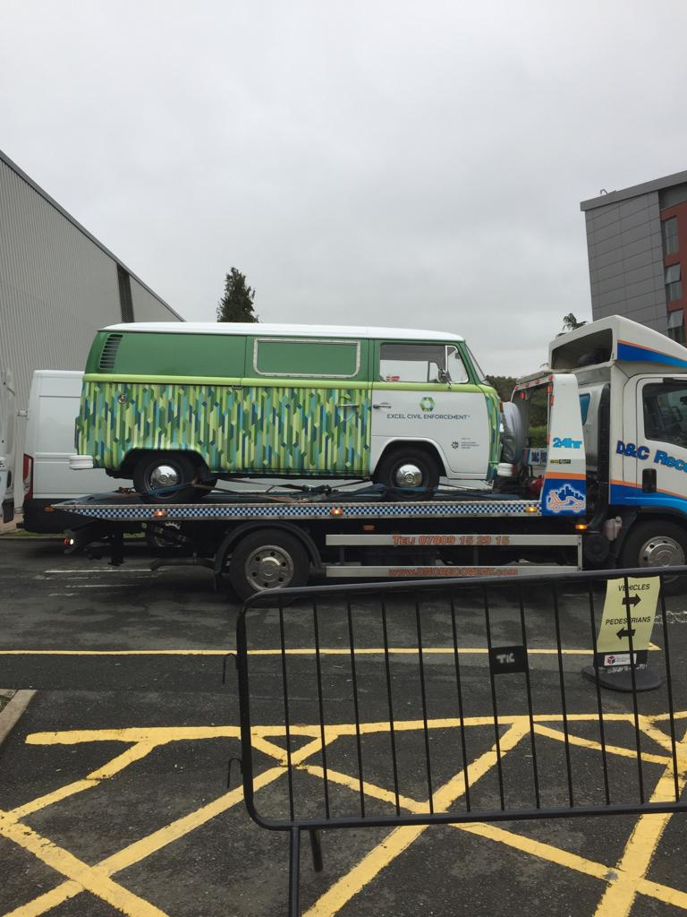 classic campervan hire with transporter for long distance