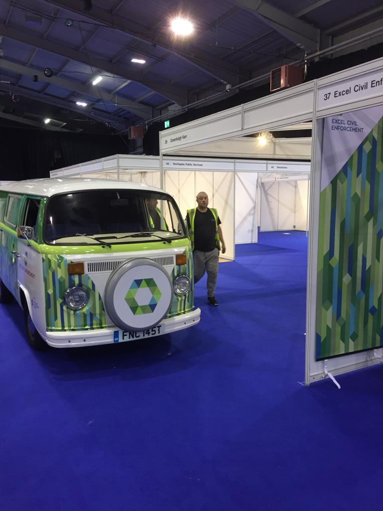 Branded VW Camper hire expo