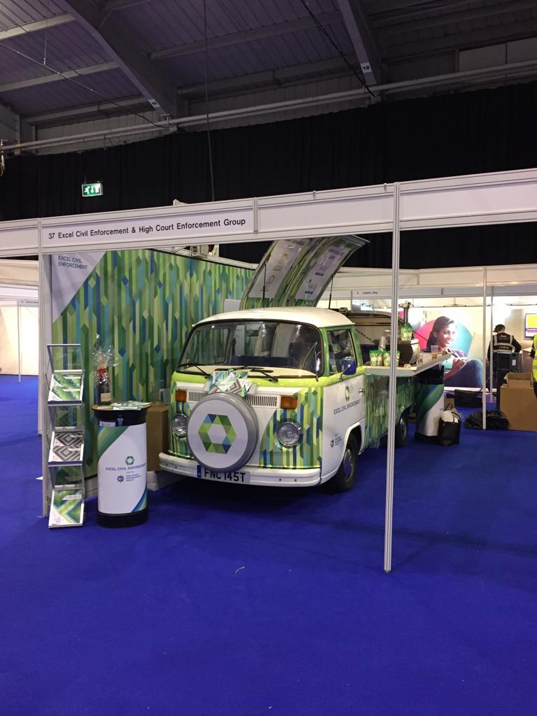 branded campervan exhibition stand rental