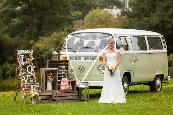 VW Camper wedding car hire Surrey