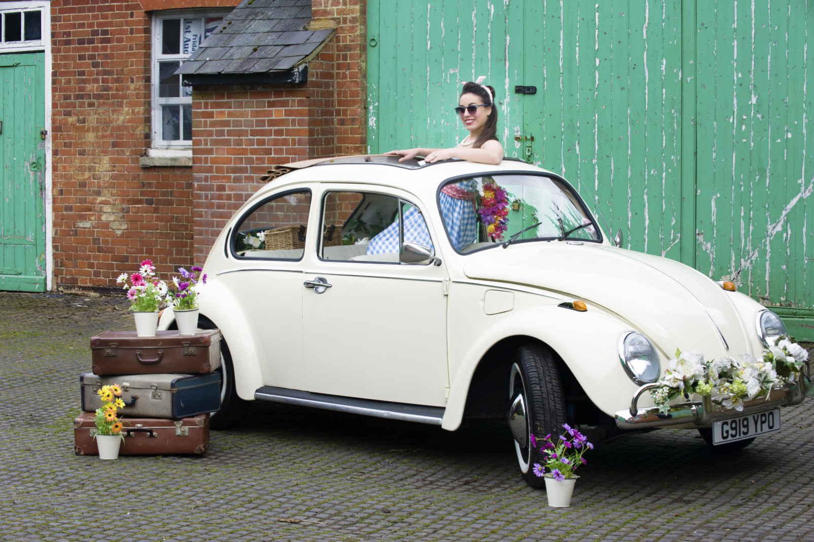 VW Beetle wedding car hire Surrey London