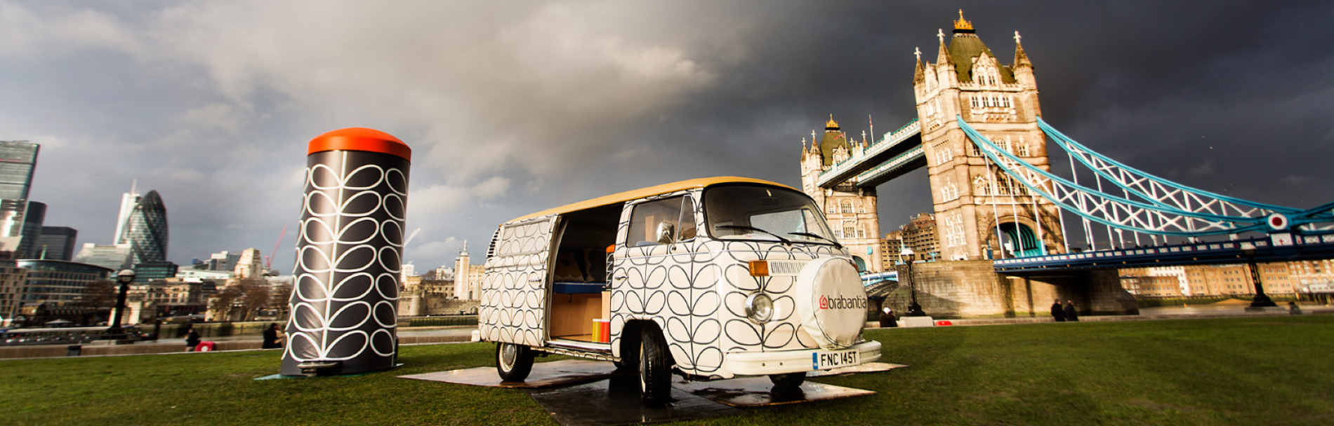 Branded campervan hire for promo events London