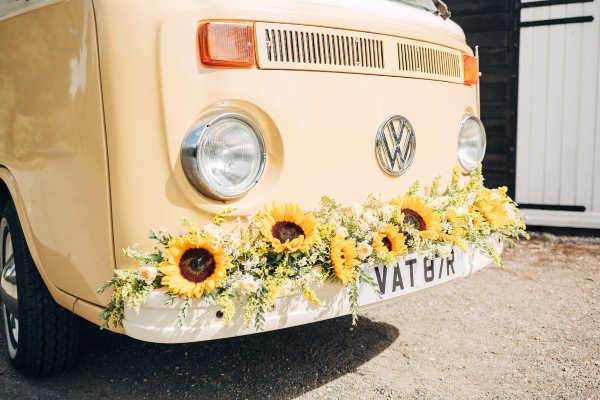 Bumble campervan wedding car kent