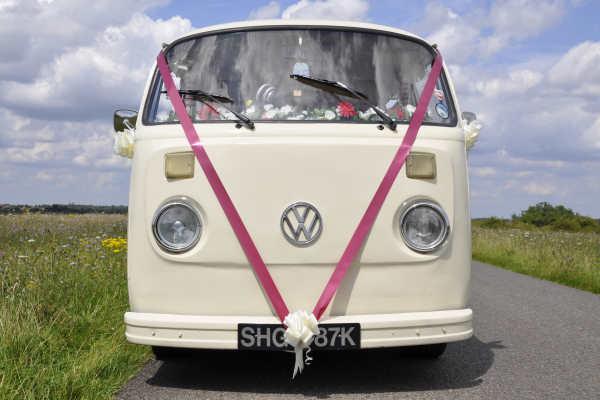 Pushka campervan wedding car surrey