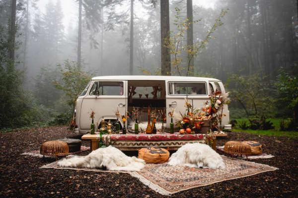 Pushka campervan wedding car Kent