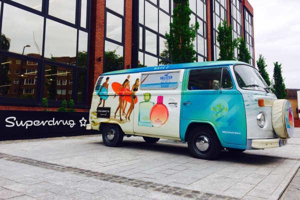 vinyl wrap branded campervan hire