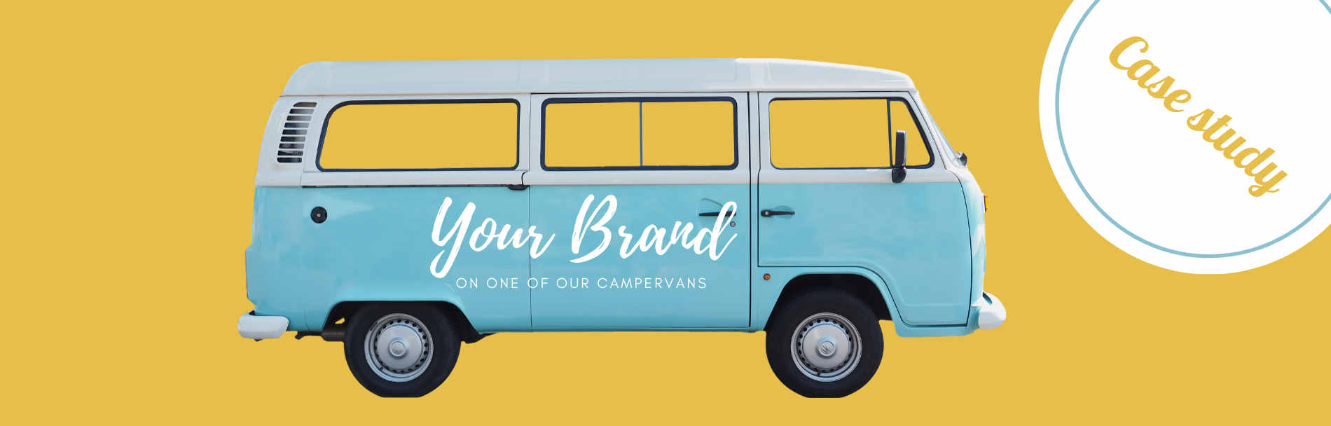 buttercupbus branded campervan hire case study
