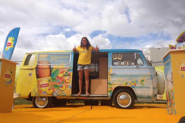 vinyl wrapped branded campervan hire