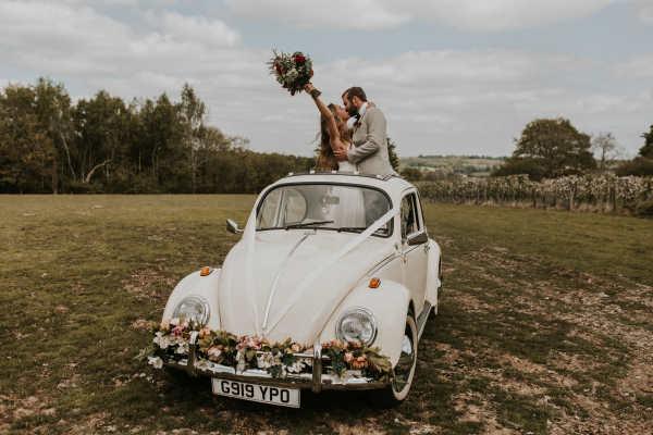 vw beetle wedding car hire Kent