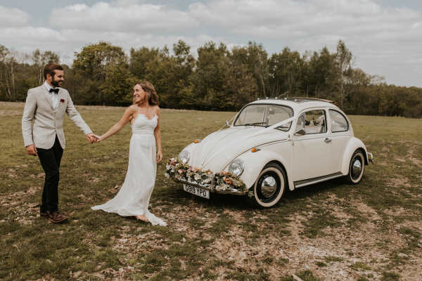 vw beetle wedding car hire Sussex