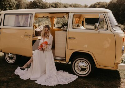 70s campervan wedding car boho kent