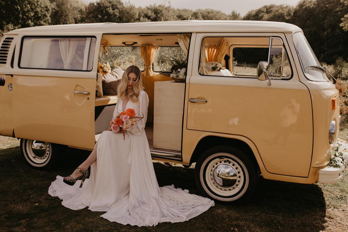 70s campervan wedding car boho kent