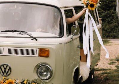 70s campervan wedding kent