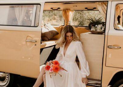 70s style wedding surrey