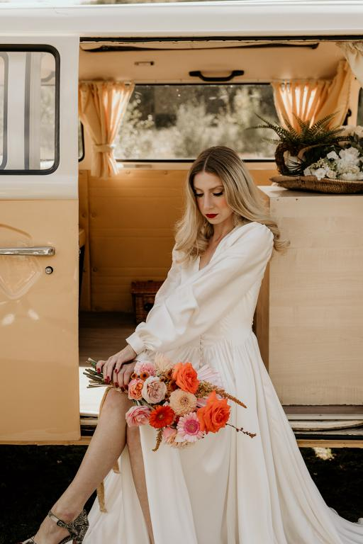 70s vw campervan wedding car hire