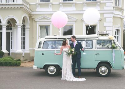Campervan with driver for wedding car Surrey